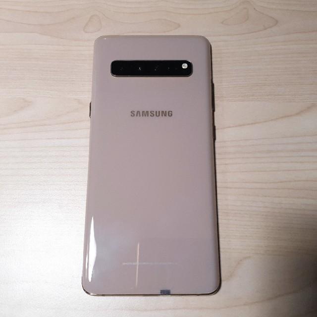 SAMSUNG(サムスン)の美品 Samsung Galaxy S10 5G 256GB ゴールド スマホ/家電/カメラのスマートフォン/携帯電話(スマートフォン本体)の商品写真