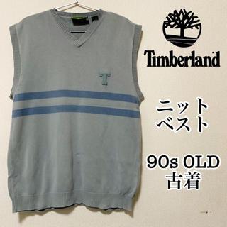 Timberland - 【ワンポイント】ティンバーランド ニットベスト USA古着 90s OLD
