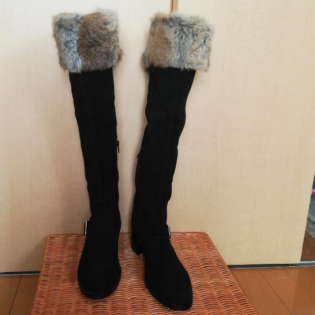 Reebok(リーボック)の未使用 Reebok  黒ロングブーツ レディースの靴/シューズ(ブーツ)の商品写真