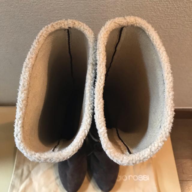 Sergio Rossi(セルジオロッシ)の美品! Sergio Rossiセルジオロッシムートンブーツ レディースの靴/シューズ(ブーツ)の商品写真