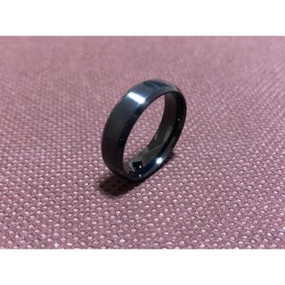 ブラック 6mm 指輪 シンプル ブラック おすすめ リング メンズ(リング(指輪))