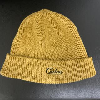 キャリー(CALEE)のCALEE   キャリー ビーニー ニット キャップ マスタード 送料込 美品(ニット帽/ビーニー)