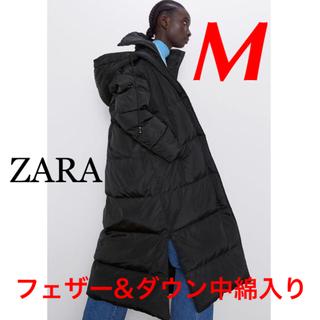 ZARA - 新品 完売品 ZARA M フード付き ロング ダウンコート