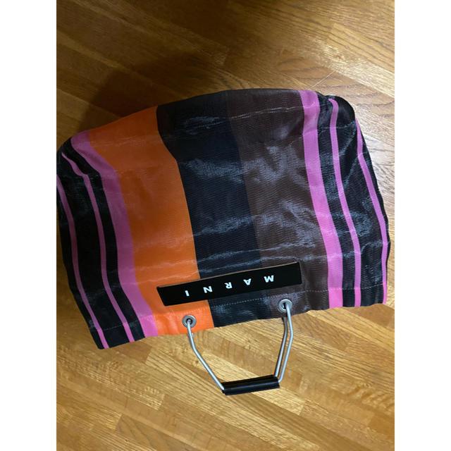 Marni(マルニ)のマルニ ストライプバッグ マルシェバッグ ピクニックバッグ  レディースのバッグ(かごバッグ/ストローバッグ)の商品写真