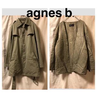 アニエスベー(agnes b.)のagnes b. ライナー付きトレンチコート ミリタリー カーキ(トレンチコート)