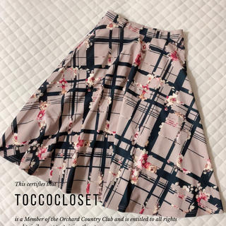 tocco - toccocloset♡フラワーチェックプリントフレアスカート