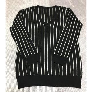 ラウンジドレス(Loungedress)のラウンジドレス ボーダーニットセーター (ニット/セーター)
