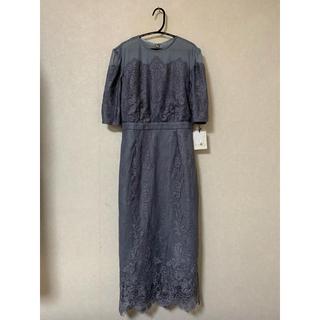 Andemiu - 新品 Andemiu【WEB限定】ストライプレースワンピース ドレス Mサイズ