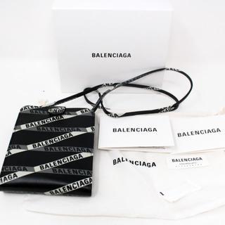 Balenciaga - 新品 BALENCIAGA ロゴ ストライプ ウォレット