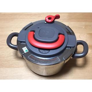 ティファール(T-fal)の【お買い得】T-fal  4L 圧力鍋 パプリカレッド(調理道具/製菓道具)