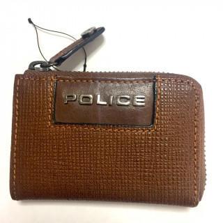 ポリス(POLICE)の新品 L字ファスナー 小銭入れ コインケース ブラック ブラウン在庫あり(コインケース/小銭入れ)