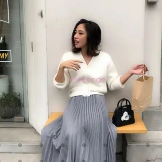birthdaybash人気プリーツスカート グレー🍋バースデーバッシュJJ(ロングスカート)