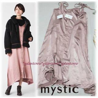 mystic - 【新品】mysticミスティック★前ボタンサテンキャミワンピース★ピンク