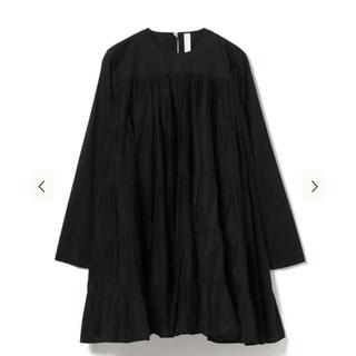 トゥモローランド(TOMORROWLAND)のmerlette SOLIMAN ドレス ワンピース 黒 black(ミニワンピース)