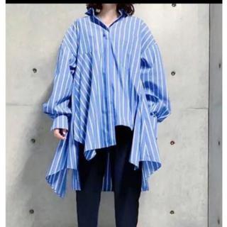 ENFOLD 2019SS 裾ボリュームストライプシャツ エンフォルド