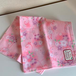 ガーゼハンカチ ピンク 花柄(ハンカチ)
