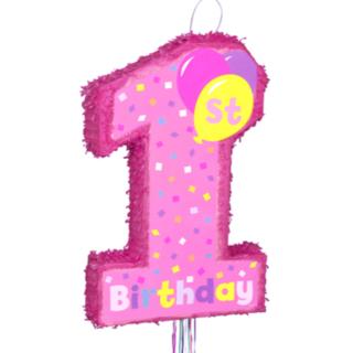 ピニャータ 1stバースデーガール 1歳のお誕生日会 パーティ pinata(その他)