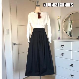 M-premier - 美品 BLENHEIMブレンヘイム フレアロングスカート黒 Mプルミエ