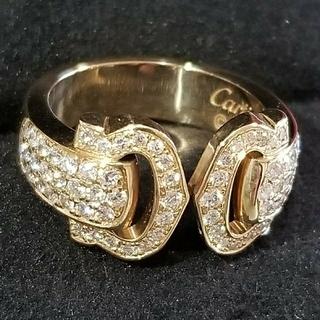 カルティエ(Cartier)の極美品☆Cartier K18YG  C2 ブークルセ・フルダイヤモンド リング(リング(指輪))