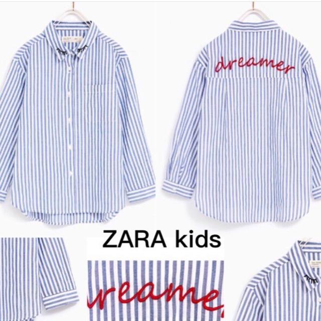 ZARA KIDS(ザラキッズ)のZARA/ザラ♡キッズ/ストライプシャツ164cm レディースのトップス(シャツ/ブラウス(長袖/七分))の商品写真