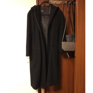 Plage - plage プラージュ フード ロングコート ウール コート