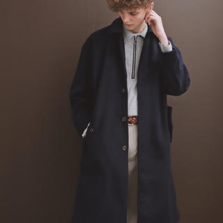 HARE - EMMA CLOTHES  メルトン ステンカラーコート