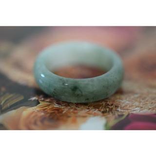 9-123 19.5号 天然 A貨 翡翠 リング 硬玉ジェダイト(リング(指輪))