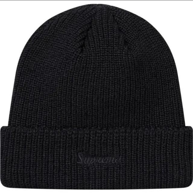 Supreme(シュプリーム)のSupreme Loose Gauge Beanie 黒 ニット帽 登坂 メンズの帽子(ニット帽/ビーニー)の商品写真