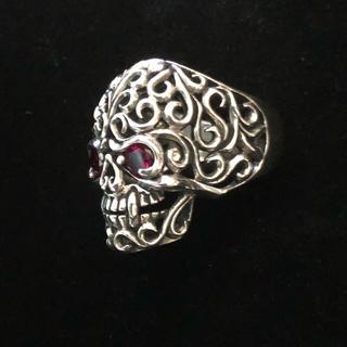 JINA BRINGフルオープン骸骨スカルリング アラベスク 新品(リング(指輪))