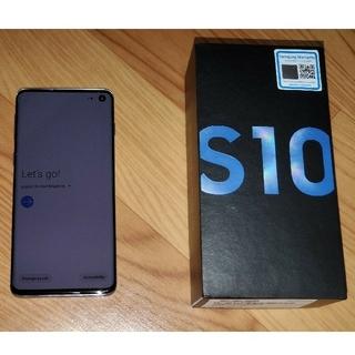 Galaxy - 中古 Galaxy S10 SM-G973F Prism Blue SIMフリー