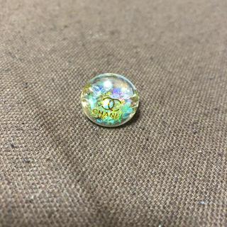 フリーリング(CH〇NEL風)グリーンブルー系(リング(指輪))