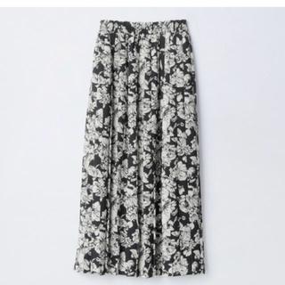 しまむら - プチプラのあや 花柄 スカート プリーツ しまむら ポケット M