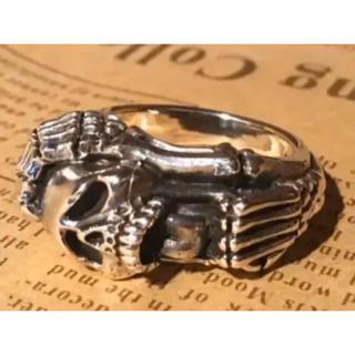 スカル シルバー925 リング  21号 髑髏ドクロ ガイコツ骸骨 ギフト銀指輪(リング(指輪))