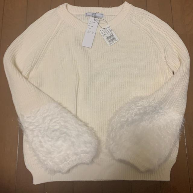 SCOT CLUB(スコットクラブ)のオフホワイトのニット☆ レディースのトップス(ニット/セーター)の商品写真