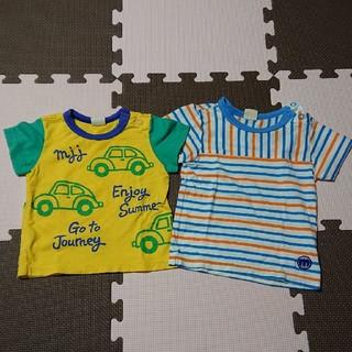 ムージョンジョン(mou jon jon)の半袖Tシャツ 80 2枚セット MouJonJon(Tシャツ)