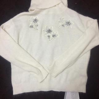 リランドチュール(Rirandture)のビジュー刺繍ニット(ニット/セーター)