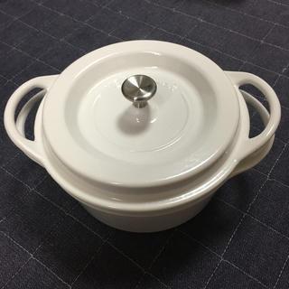 バーミキュラ(Vermicular)のバーミキュラ パールホワイト粉雪18㎝(鍋/フライパン)