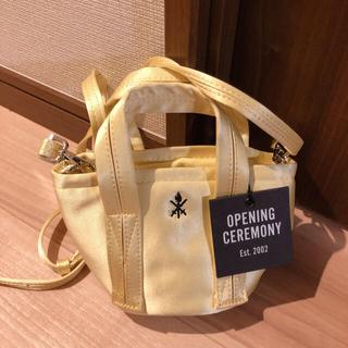 オープニングセレモニー(OPENING CEREMONY)の♡opening ceremony♡バッグ 薄いイエロー マカロンカラー(ショルダーバッグ)