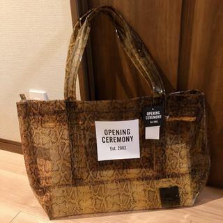 オープニングセレモニー(OPENING CEREMONY)の♡opening ceremony♡PVCバッグ 新品未使用(トートバッグ)