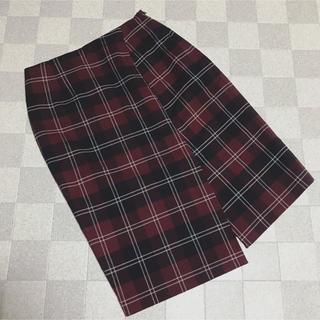 ハニーズ(HONEYS)のHoneys★スリット入りチェックスカート(ひざ丈スカート)