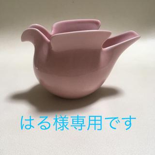 リサラーソン(Lisa Larson)のリサラーソン 鳥 花瓶 置物 ピンク deici duva 箱なし(花瓶)