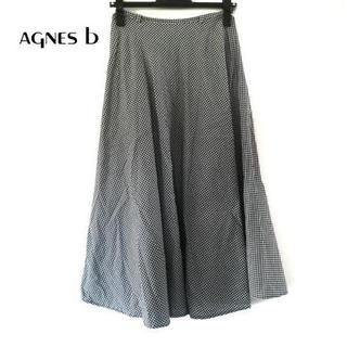 アニエスベー(agnes b.)のagnes b(アニエスベー) スカート サイズ36 S レディース美品 黒×白(その他)