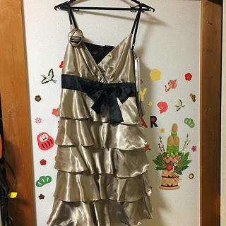 シャンパンゴールドドレス(ミニドレス)