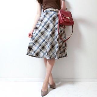 GU - 新品タグ付き☆GUマドラスチェックフレアミディスカート ジーユーユニクロH&M