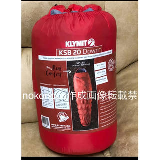 新品 KLYMIT クライミット 寝袋 KSB20 ダウンスリーピングバッグ 赤(寝袋/寝具)