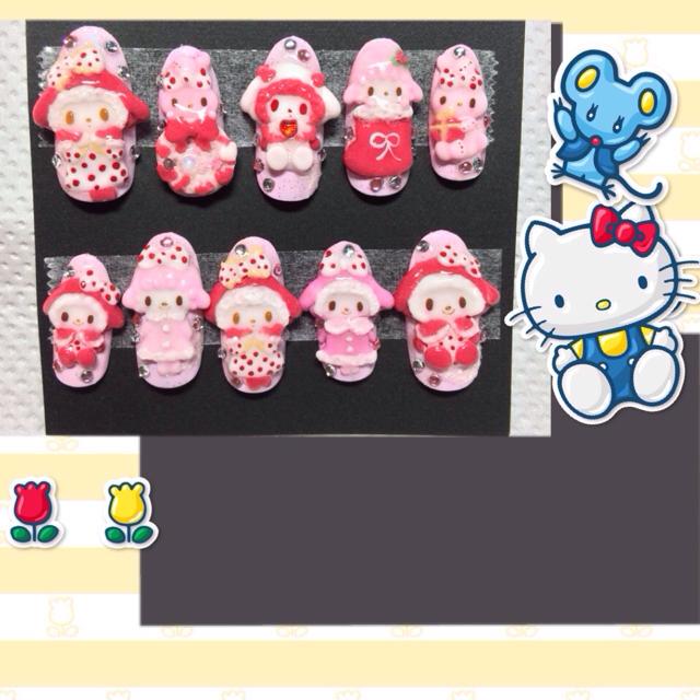 クリスマスマイメロ コスメ/美容のネイル(つけ爪/ネイルチップ)の商品
