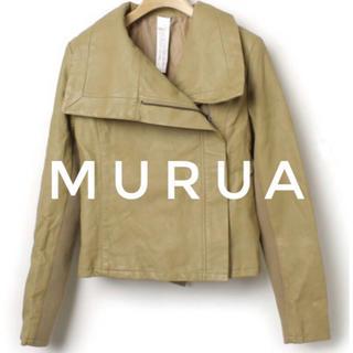 ムルーア(MURUA)のMURUA【新品、未使用】変形 ライダースジャケット レザーブルゾン(ライダースジャケット)
