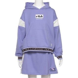 lovetoxic - 新品 FILAコラボ パーカー スカート 160 薄紫