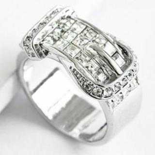 スワロフスキー(SWAROVSKI)のamazinggrace スワロフスキー ベルトリング ホワイト(リング(指輪))