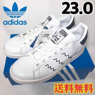 アディダス(adidas)の【新品】希少 アディダス スタンスミス ジグザグ ホワイト ブルー 23.0(スニーカー)